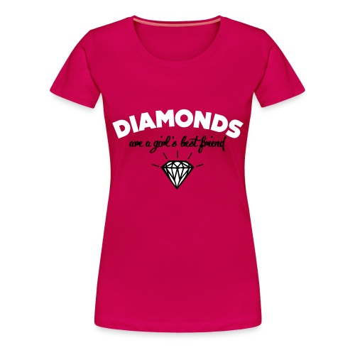 Diamonds are a girls best friend shirt - Vrouwen Premium T-shirt