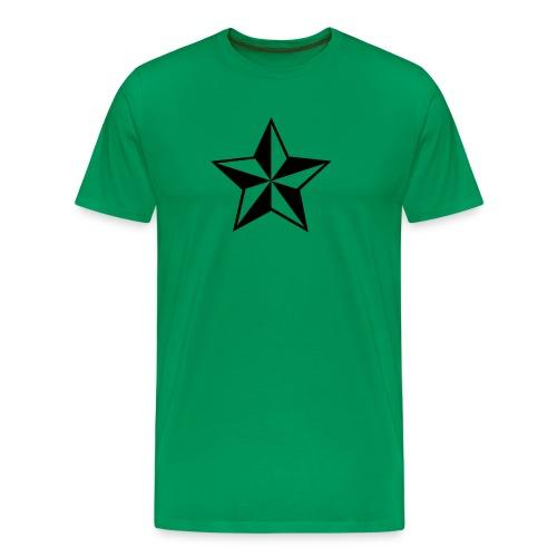 T-skjorte m/stjerne - Premium T-skjorte for menn