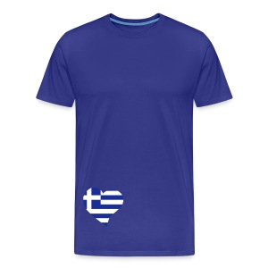 Grieks Hart - Mannen Premium T-shirt
