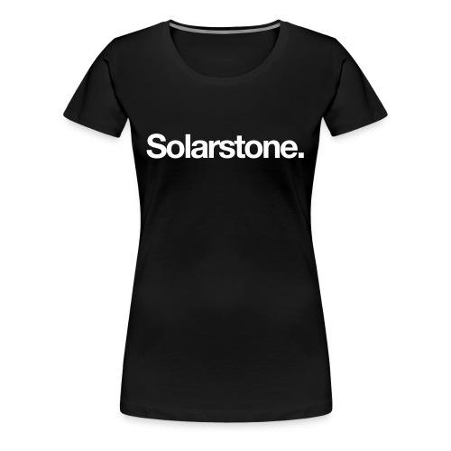 Solarstone [Female] Black on White - Women's Premium T-Shirt