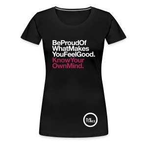 Be Proud... [Female] White / Magenta - Women's Premium T-Shirt