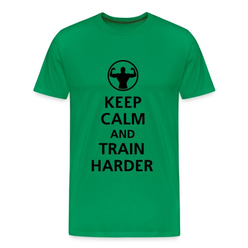 Keep Calm and Train Harder - Men's Premium T-Shirt