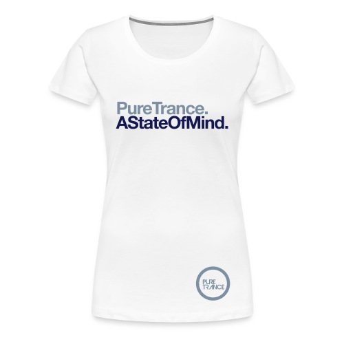 A State Of Mind [Female] Metallic / Navy Blue - Women's Premium T-Shirt