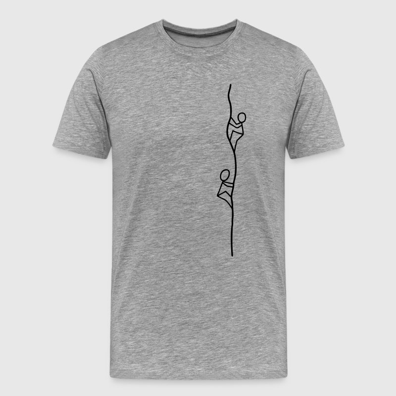 Two climbers T-Shirts - Men's Premium T-Shirt