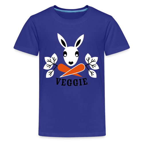 teenager, t-shirt, der veggiehase - Teenager Premium T-Shirt