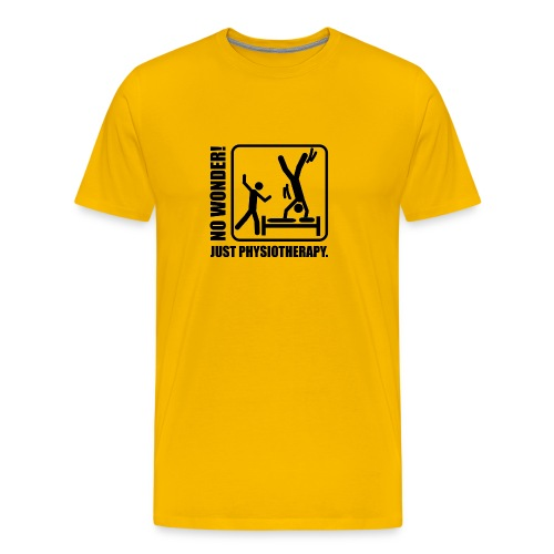 No Wonder. Just Physiotherapie. - Männer Premium T-Shirt