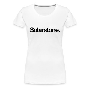 Solarstone [Female] Black on White - Women's Premium T-Shirt