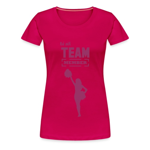 Tee-shirt LÉ ZEL / Club des supportrices Rose - T-shirt Premium Femme