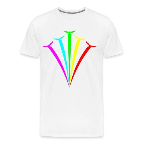 Birds of Color White - Mannen Premium T-shirt