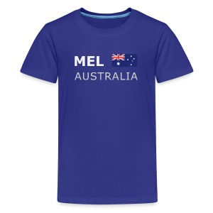 Teenager T-Shirt MEL AUSTRALIA white-lettered - Teenage Premium T-Shirt