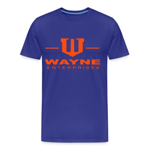 Wayne Enterprises [T-Shirt] [blue-orange] - Männer Premium T-Shirt