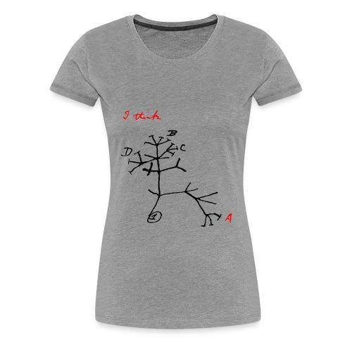 Atheistischer Stammbaum - Frauen Premium T-Shirt