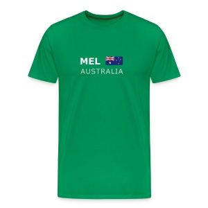 Classic T-Shirt MEL AUSTRALIA white-lettered - Men's Premium T-Shirt
