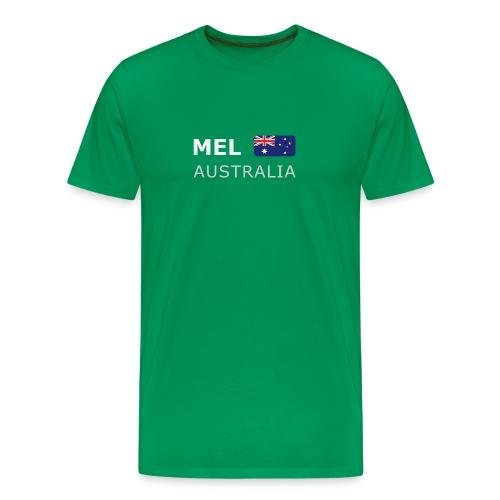 Classic T-Shirt MEL AUSTRALIA white-lettered - Men's Premium T-Shirt