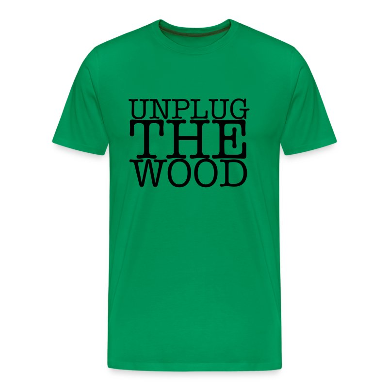 Unplug The Wood - T-shirt - Square Black - Mens - Men's Premium T-Shirt