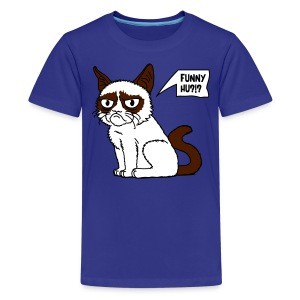 Grumpy Cat 2c - Teenager Premium T-Shirt