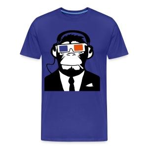 3D Headphone Monkey T-shirt - Men's Premium T-Shirt