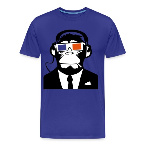 3D Headphone Monkey T-shirt - Men's Premium T-Shirt
