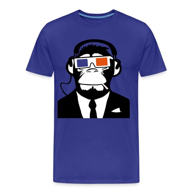 3D Headphone Monkey T-shirt