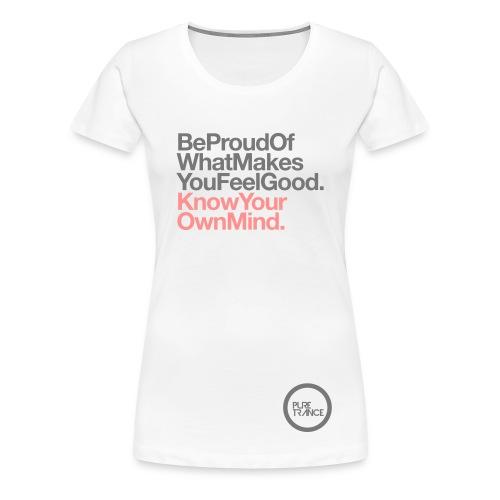 Be Proud... [Female] Gray/Pink - Women's Premium T-Shirt