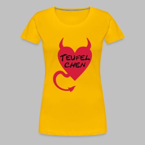 Teufelchen mit Herz - Frauen Girlieshirt - Frauen Premium T-Shirt