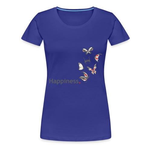 Happiness. Butterfly. Schmetterling. - Frauen Premium T-Shirt