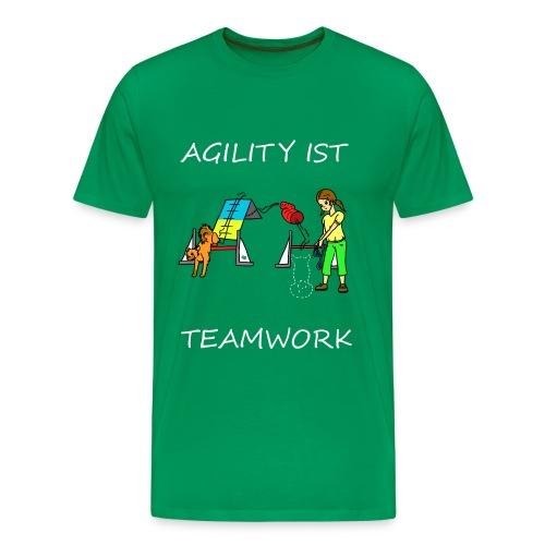 Agility ist -- Teamwork - Männer Premium T-Shirt