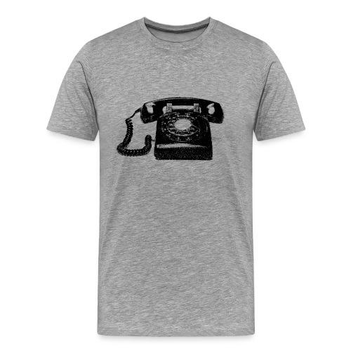 telephone, old fashion phone, vintage - Men's Premium T-Shirt