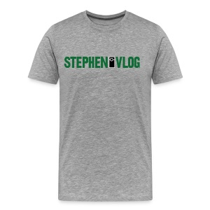 StephenVlog Logo - Green (Men's) - Men's Premium T-Shirt
