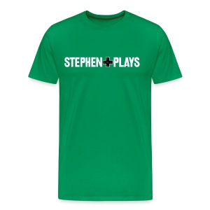 StephenPlays Logo - White (Men's) - Men's Premium T-Shirt