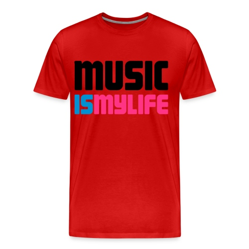 Music is my life. - Men's Premium T-Shirt
