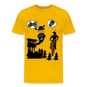 Biker vs. Hunter colour HQ - Männer Premium T-Shirt
