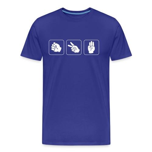 Sten-Saks_Spejder - Herre premium T-shirt
