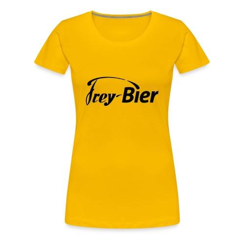 Damen Shirt gelb - Frauen Premium T-Shirt