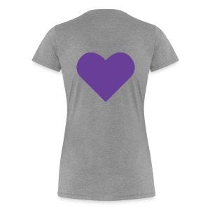 Heart Shirt Grey (Dam) - Premium-T-shirt dam
