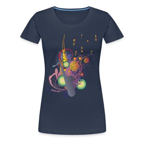 colours of Music - saxophon blau - Frauen Premium T-Shirt