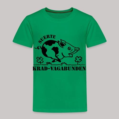 Kinder-T-Shirt - Glücksschwein (schwarzer Aufdruck) - Kinder Premium T-Shirt