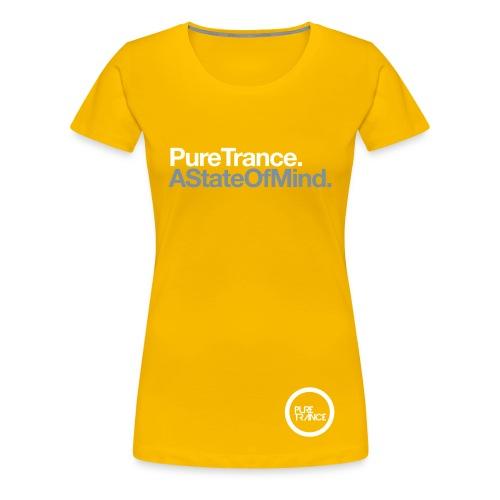 A State Of Mind [Female] Metallic / White - Women's Premium T-Shirt