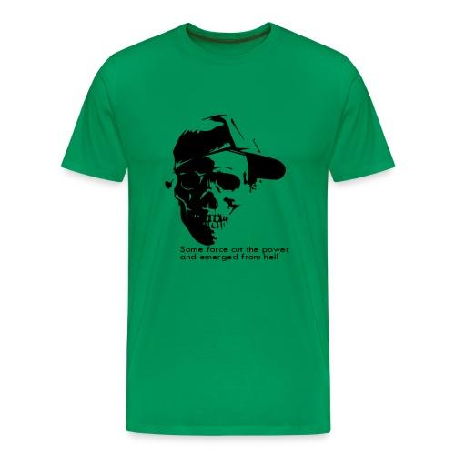 Totenkopf mit Basecap (dh) - Männer Premium T-Shirt