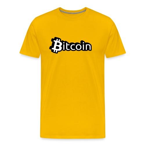 T-Shirt Bitcoin Schrift - Männer Premium T-Shirt