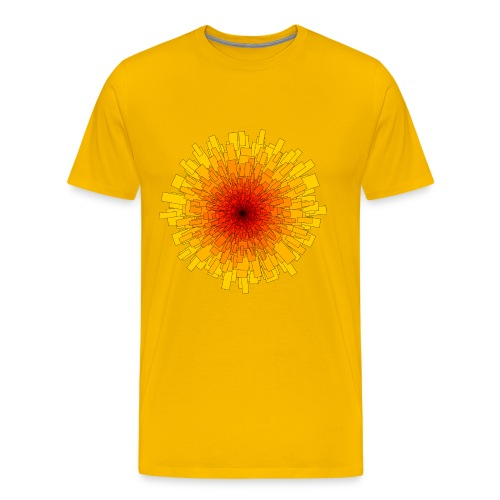 T-SHIRT YELLOW SUN - Männer Premium T-Shirt