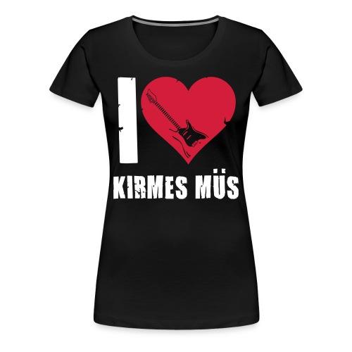Girlie I Love Kirmes Müs - Frauen Premium T-Shirt