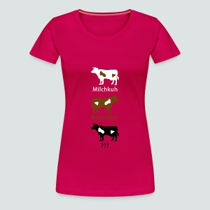 Blöde Kuh?? T-Shirt Damen - Frauen Premium T-Shirt