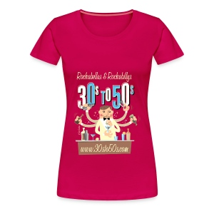30sto50s.com Cocktails T-Shirt Damen - Frauen Premium T-Shirt