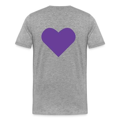 Heart Shirt Light Grey (Herr) - Premium-T-shirt herr