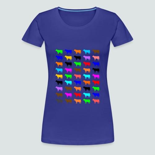 Multi Color Kühe, T-Shirt Damen - Frauen Premium T-Shirt