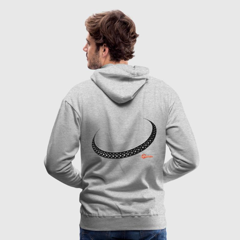 Heather grey Platter DJ Hoodies & Sweatshirts - Men's Premium Hoodie