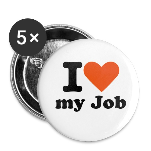 I Live - my Job - Buttons klein 25 mm