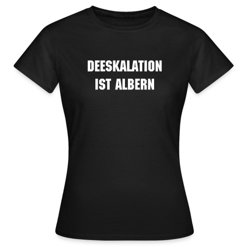 Functional Fighting Girlie Deeskalation T-Shirt schwarz - Frauen T-Shirt