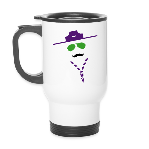 Moustache - name tag - Travel Mug